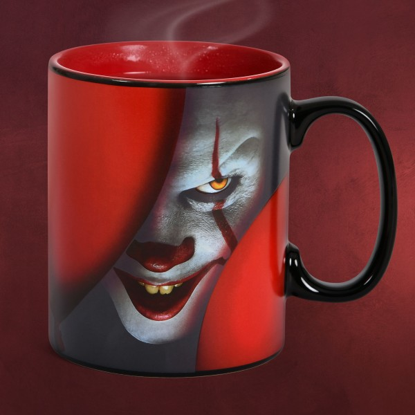 Stephen Kings ES - Pennywise Time to Float Thermoeffekt Tasse