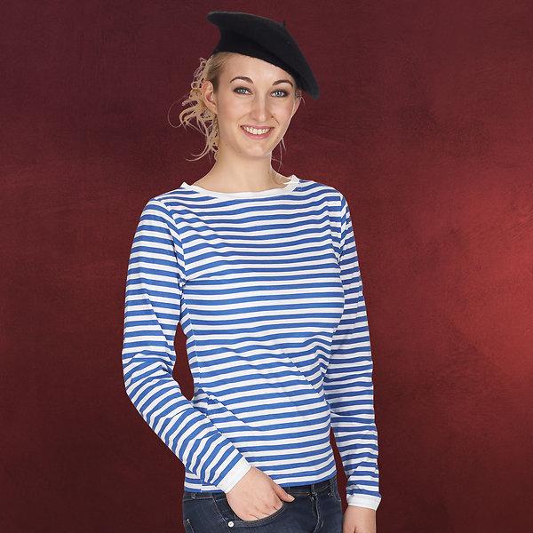 Marine Kostüm Ringel Shirt Damen blau weiß