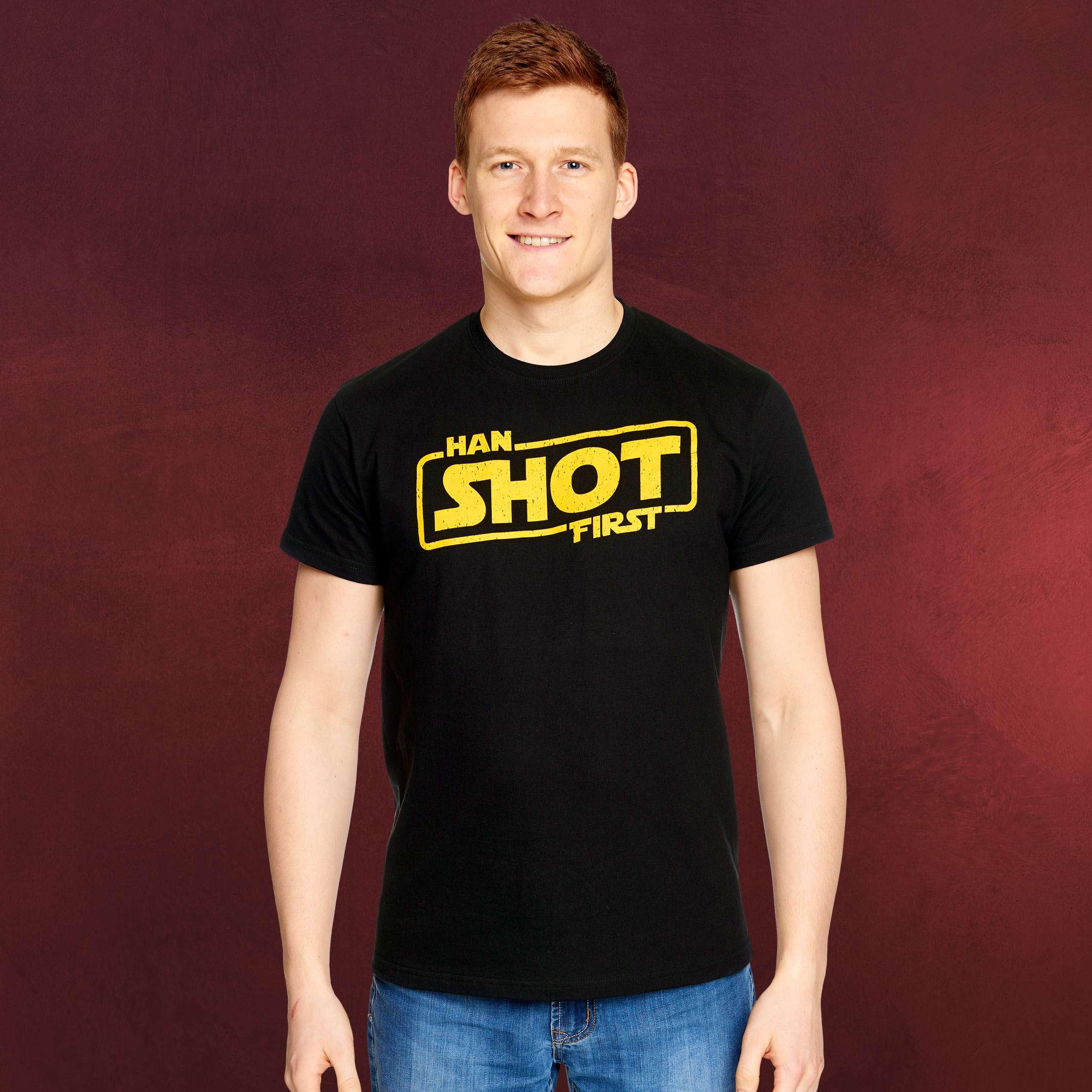 Han Shot First T-Shirt für Star Wars Fans | Elbenwald