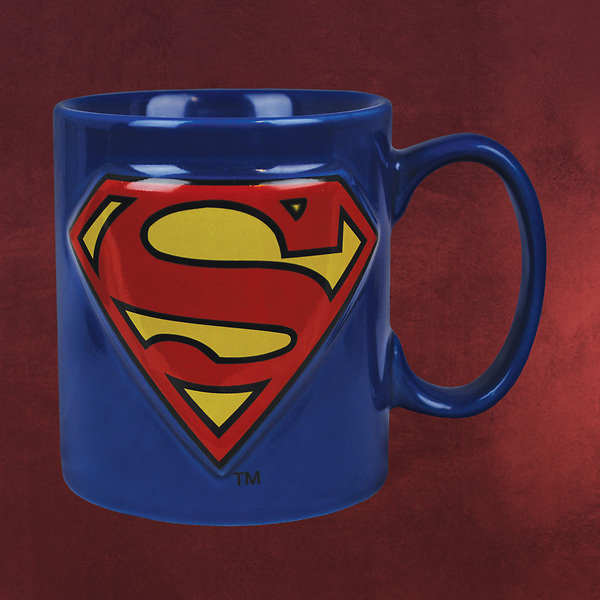Superman - Logo Tasse blau