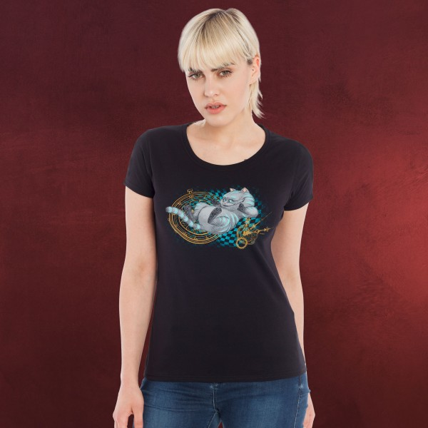Alice im Wunderland - Time Cat Girlie Shirt schwarz