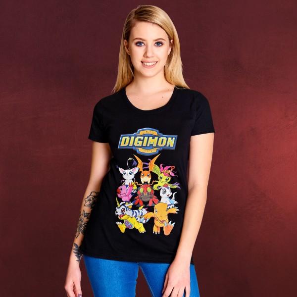 Digimon - Characters T-Shirt Damen schwarz