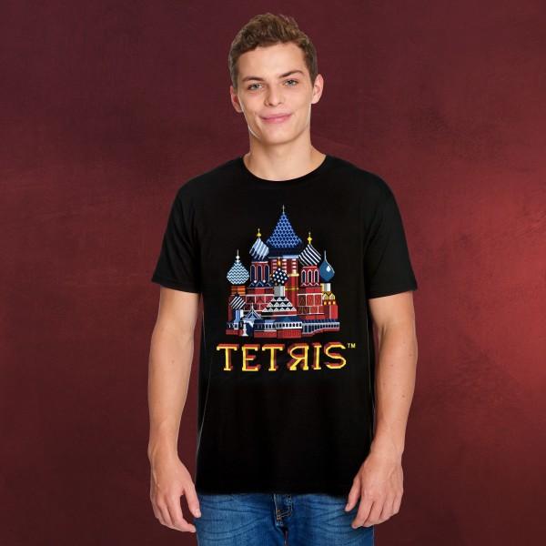 Tetris - Red Square Title Screen T-Shirt schwarz