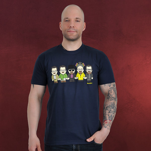 Evolution - Toonstar Cartoon T-Shirt navy