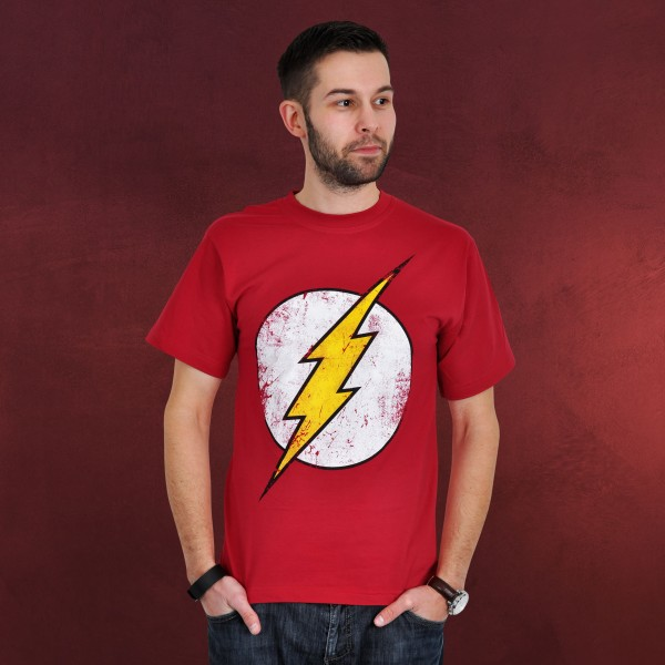 The Flash - Logo Distressed T-Shirt