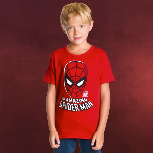 Spider-Man - Mask Kinder T-Shirt rot