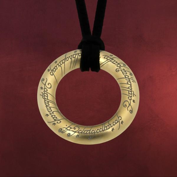 Herr der Ringe - Der Eine Ring Anhänger Edelstahl vergoldet