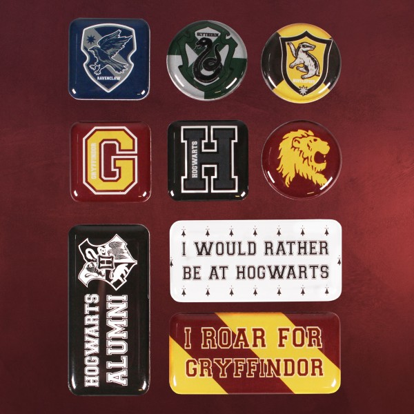 Harry Potter - Hogwarts College Magnet-Set