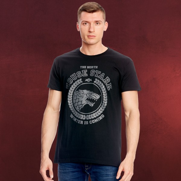 Game of Thrones - Stark Wappen T-Shirt schwarz