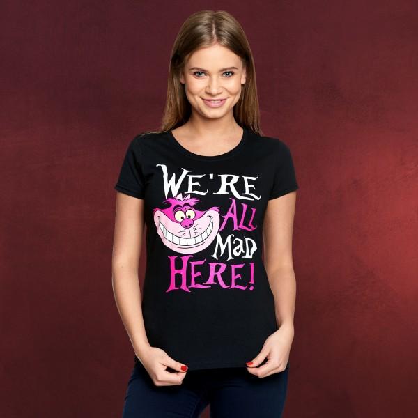 Alice im Wunderland - All Mad Here T-Shirt Damen schwarz