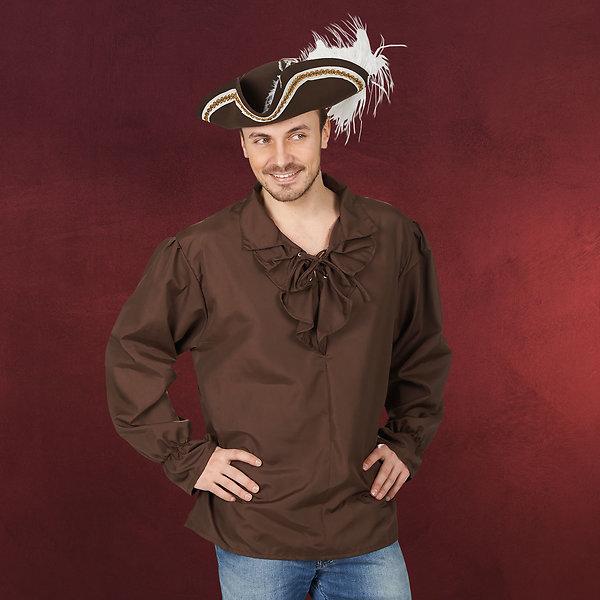 Piratenhemd braun