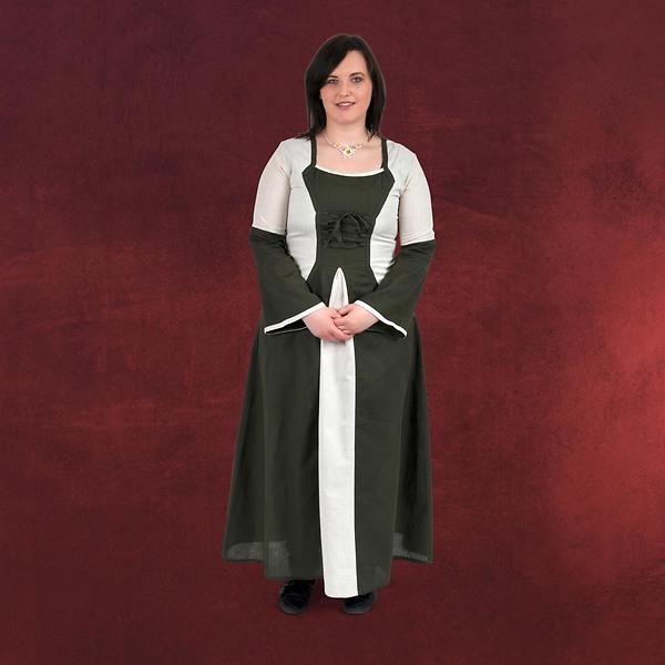 Leonora - Mittelalterkleid oliv-natur