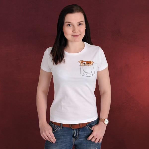 Gremlins - Pocket Gizmo T-Shirt Damen weiß