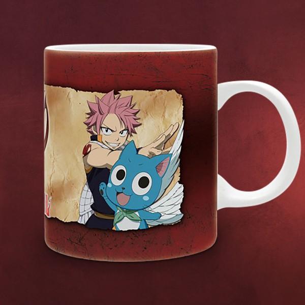 Fairy Tail - Natsu, Lucy und Happy Tasse