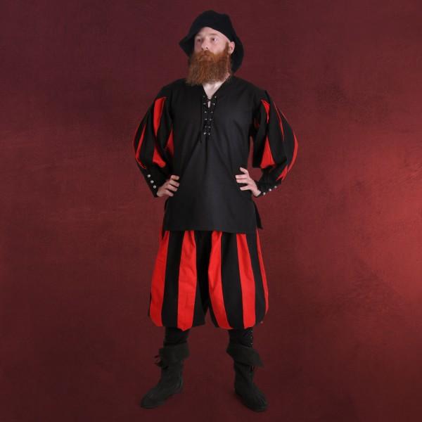 Landsknecht Gewand schwarz-rot