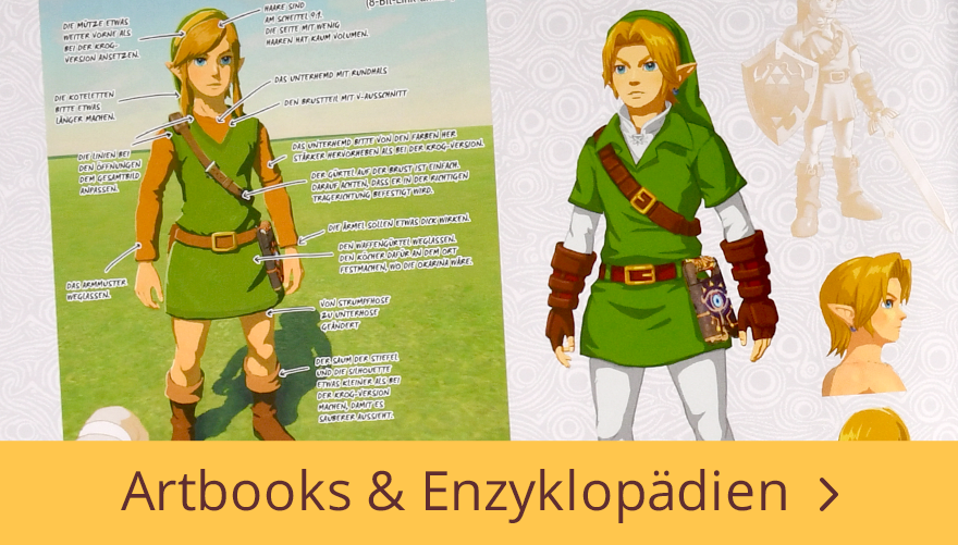 Zelda - Artbooks und Enzyklopädien