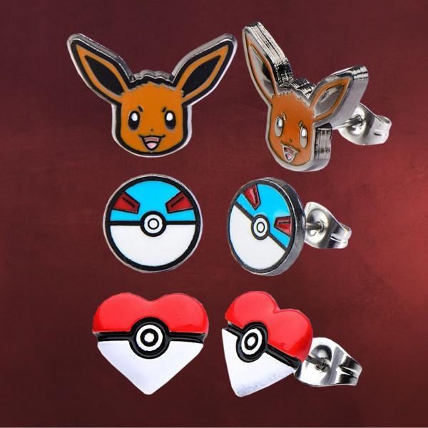 Pokemon - Evoli Ohrstecker Set