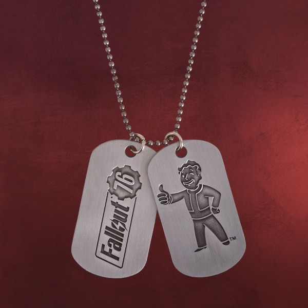Fallout - Vault Boy Dog-Tag Kette