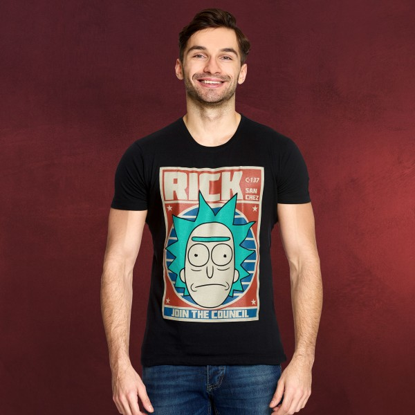 Rick and Morty - Join the Council T-Shirt schwarz