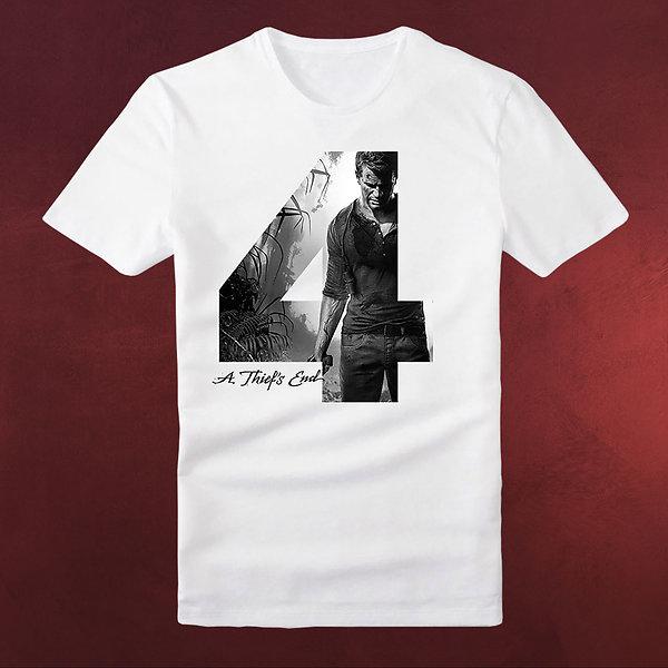 Uncharted - A Thiefs End T-Shirt weiß