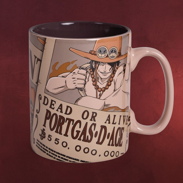 One Piece - Wanted Portgas D. Ace Tasse