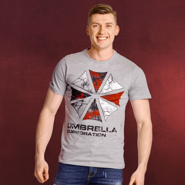 Resident Evil - Umbrella Corporation T-Shirt grau