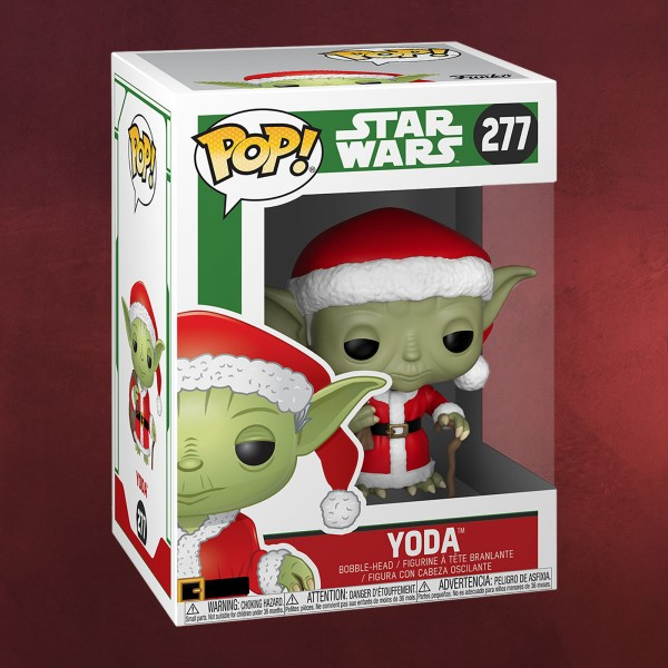 Star Wars - Yoda Christmas Funko Pop Wackelkopf-Figur