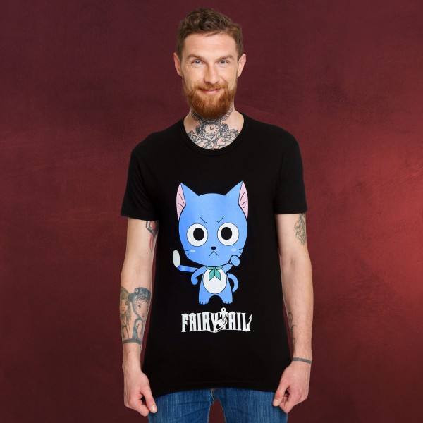 Fairy Tail - Happy T-Shirt schwarz
