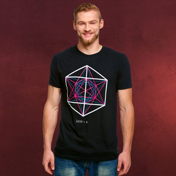 Dungeons & Dragons - 2d10 + 4 Symbol T-Shirt schwarz