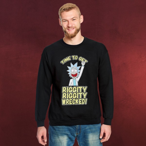 Rick and Morty - Riggity Wrecked Sweater schwarz