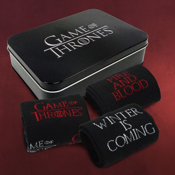 Game of Thrones - Socken 3er Set in Metallbox