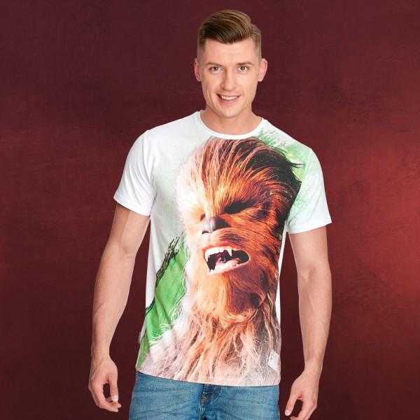 Star Wars T-Shirt - Last Jedi Chewbacca weiß