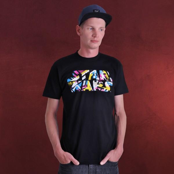 Star Wars - Neon Logo T-Shirt schwarz