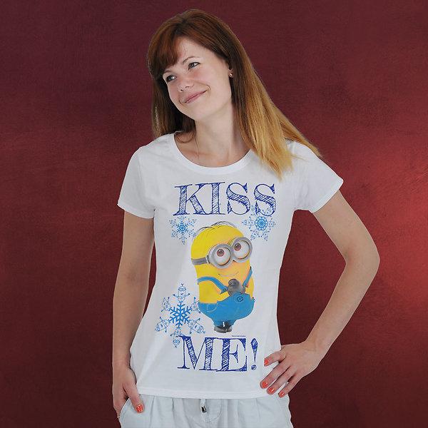 Minions - Kiss Me Girlie-Shirt weiß