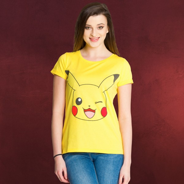 Pokemon - Pikachu Girlie Shirt gelb