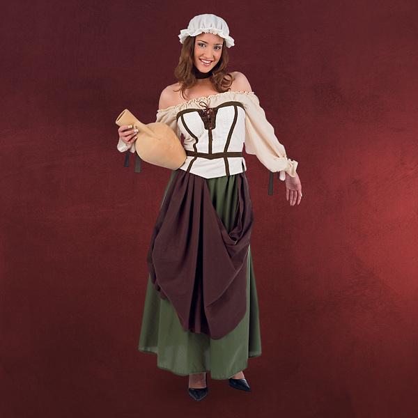 Mittelalterliche Magd - Mittelalterkostüm