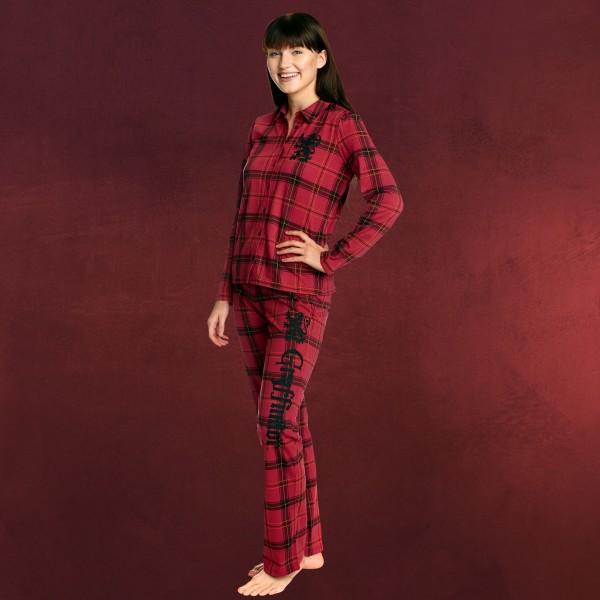 Harry Potter - Gryffindor Karo Pyjama Damen rot