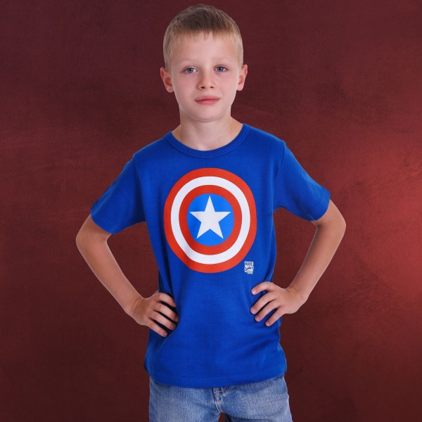 Captain America - Shield Kinder T-Shirt blau