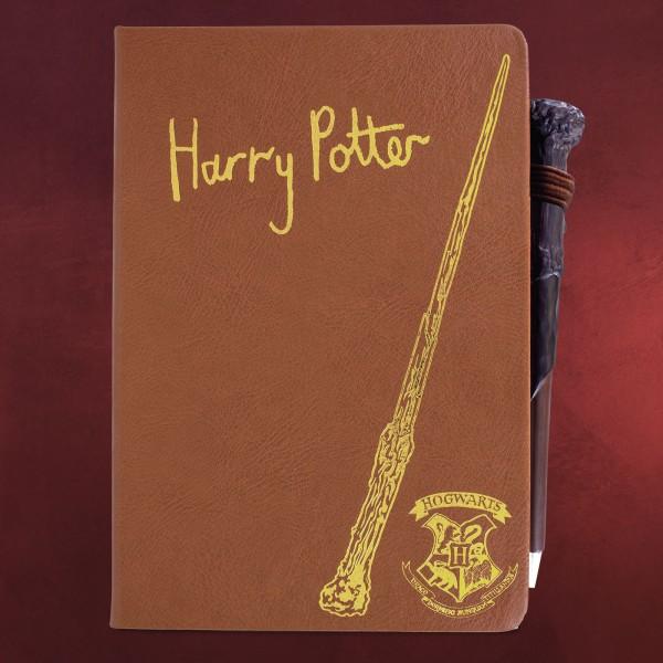 Harry Potter - Notizbuch mit Zauberstabstift