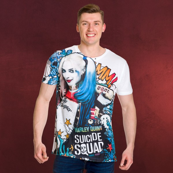 Suicide Squad - Harley Quinn Graffiti Full Size T-Shirt