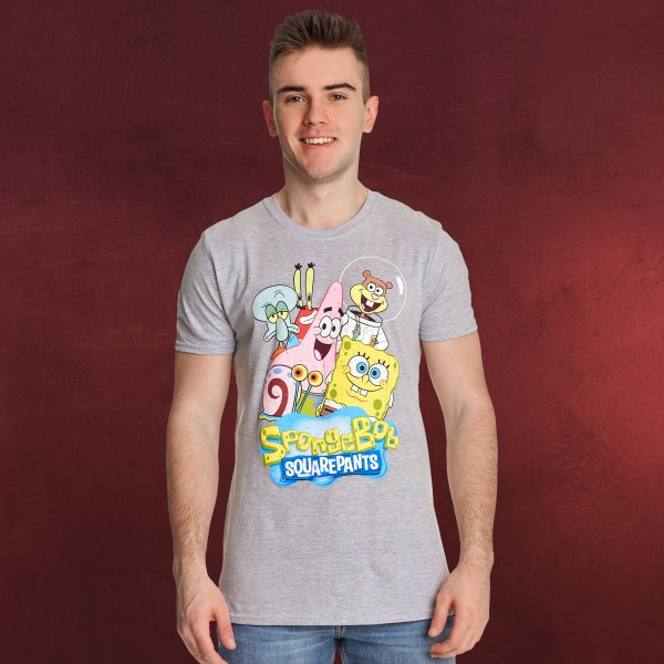 SpongeBob - Friends Together T-Shirt grau