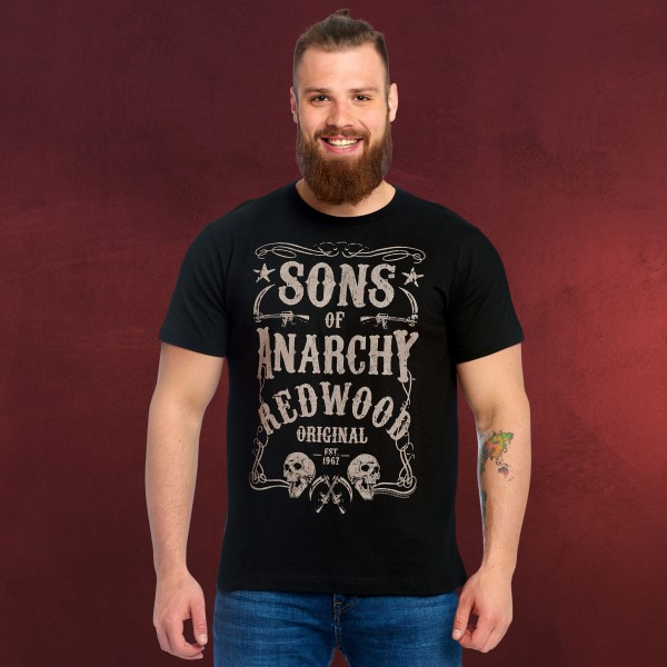 Sons of Anarchy - Redwood Original Est. 1967 T-Shirt schwarz