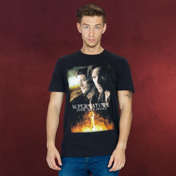 Supernatural - Poster T-Shirt schwarz