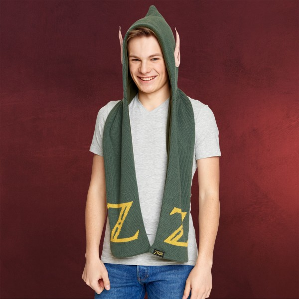 Zelda - Link Schal mit Kapuze und Ohren