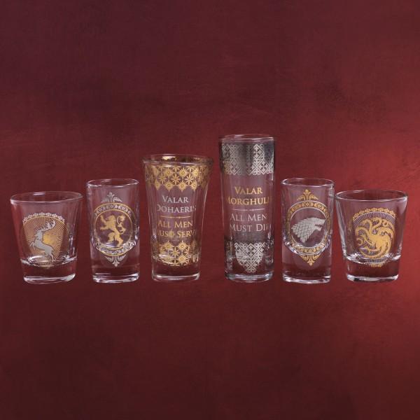 Game of Thrones - Wappen Shots Gläser 6er Set