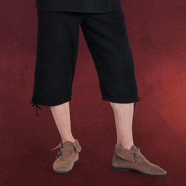 Mittelalter Kniebundhose mit Schnürung schwarz