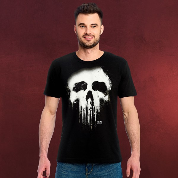 Punisher - Faded Skull Logo T-Shirt schwarz