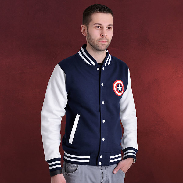 Captain America - Civil War Logo College Jacke