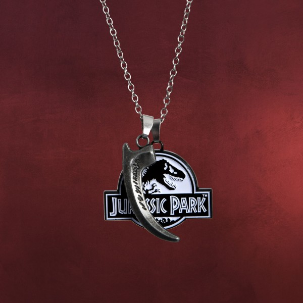 Jurassic Park - Logo & Velociraptor Kralle Halskette limitiert