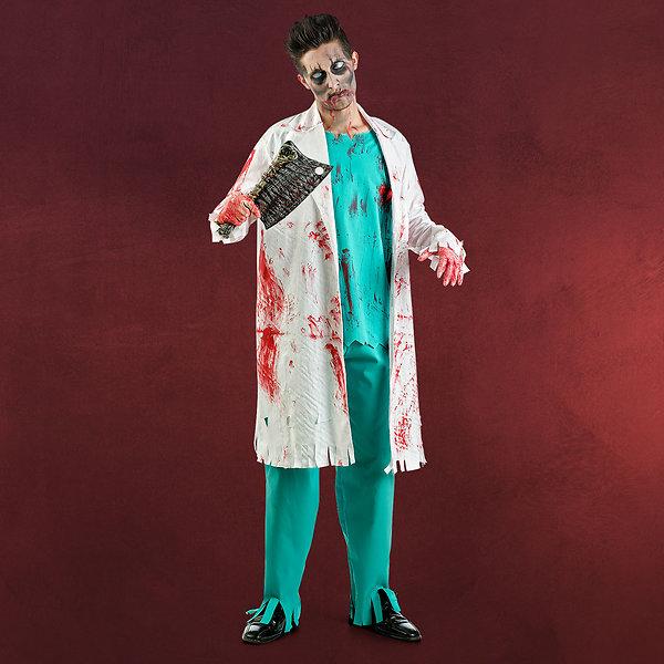 Zombie Doktor Horror Kostüm Herren